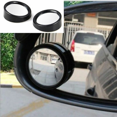 Pair Driver Side Wide Angle Round Convex Car Auto Rear View Mirror Blind Spot