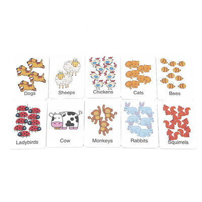 Kids Early Educational Toy Children Toddler Wooden Jigsaw Puzzle Animal Print LG