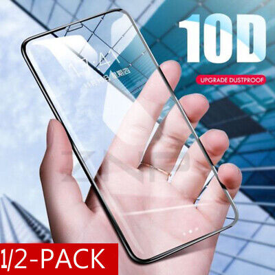 10D Full Cover Curved Tempered Glass Screen Protector For iPhone XS X 6 7 8+