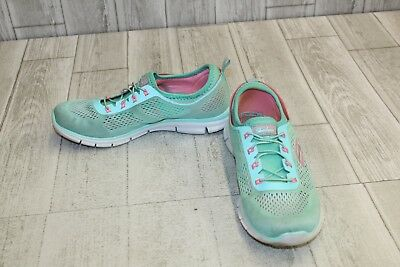 online store cac5c 39f5c **SKECHERS STRETCH FIT Glider Athletic Shoes - Women's Size 9 - Mint/Pink