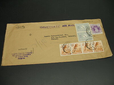 Burma 1966 airmail cover to Finland *15533