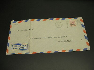 Tangier Morocco 1951 airmail cover to Germany fold *16763