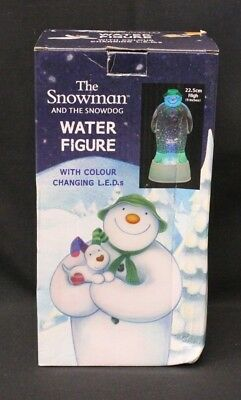 The Snowman And The Snowdog Water Figure With Colour Changing L.E.D's   (895A1)