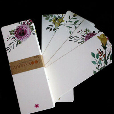 40pcs Vintage Floral Paper Bookmark Book Marks Creative Gift for Book Supplies Z