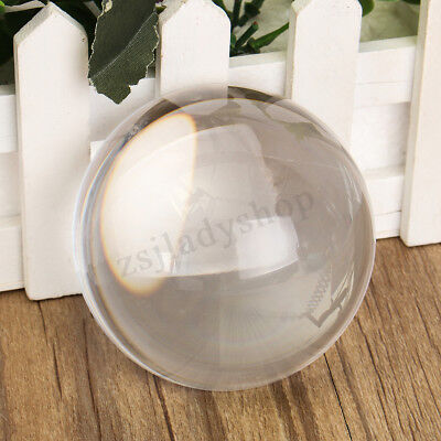 Papier de 80mm K9 verre Crystal Clear demi sphère-boule lentille loupe Photo Pro