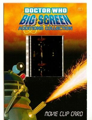Dr Doctor Who Big Screen Additions Movie Clip Card /T - Doctor,Susan & Daleks