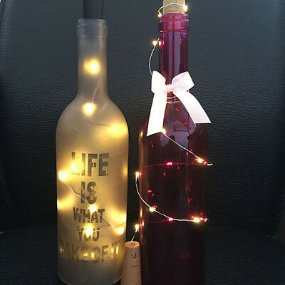 15 LED Copper Wire Wine Bottle Cork Micro Fairy String Lights Event Party Z