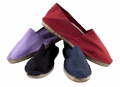 Classic Unisex Espadrilles Canvas Beach Shoes Black Navy Red Lilac Various Sizes