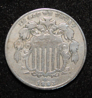1883 Shield Nickel Strong Details Overall Fine