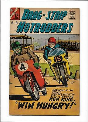 """Drag-Strip Hotrodders #12 [1966 Vg-] """"win Hungry!""""  Motorcycle Cover!"""
