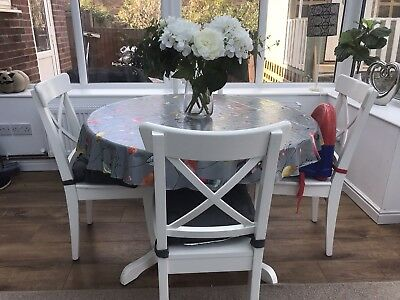 Ikea Ingatorp Extendable Dining Table And Six Ingolf Chairs 350 00 Picclick Uk