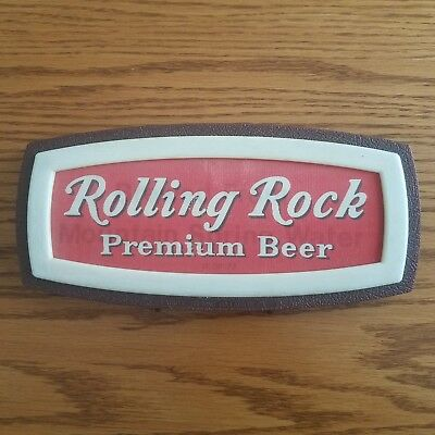 VTG Rolling Rock Premium Beer Plastic Sign Latrobe Motion Advertising PA