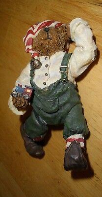 Boyds Shoebox Bears #3245 Alvin Elfbeary Jointed Christmas 2E-4729