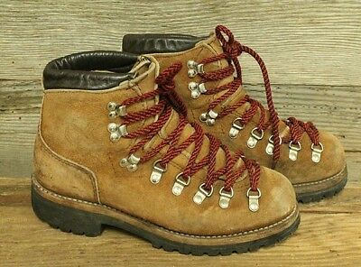 Dexter Vintage Mens Brown Leather Red Lace Hiking/mountaineering Boots Sz 8M