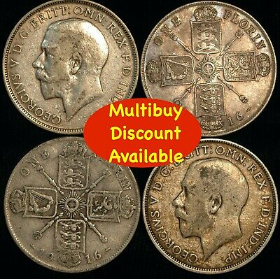 Florin George V 1911  -  1919 Silver Choose your Date
