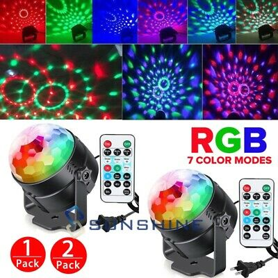 2xRGB Party Disco Lights Ball Sound Activated Strobe Led DJ Bulb Dance Lamp 2018