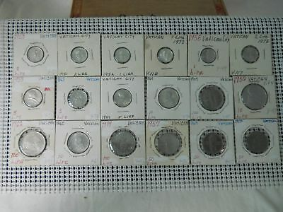 Lot Of Eighteen Old Coins From Vatican City Free Shipping