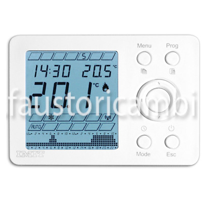Imit Thermostat Programmable Thermostat Weekly Techno Wpt 578130 White
