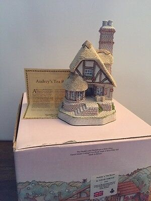 David Winter AUDREY'S TEA ROOM 1991 (soft Colors) English Structure nib