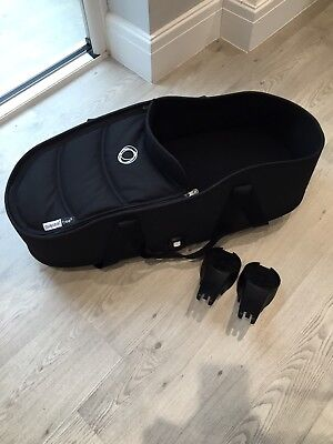 Bugaboo Bee 3/5 Carrycot Bassinet Black Immaculate With Adaptors
