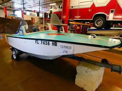 14'  Homemade Wood Runabout 55HP Yamaha Outboard Supreme Trailer T1276833