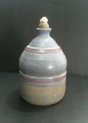 Vintage STUDIO POTTERY OIL LAMP Signed and Dated 1993