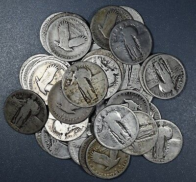 $1 FACE VALUE of STANDING LIBERTY QUARTERS 90% SILVER (LOT OF 4 COINS)