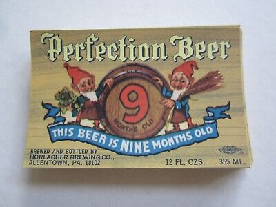 Wholesale Lot of 100 Old Vintage PERFECTION BEER LABELS - GNOMES - Allentown PA.
