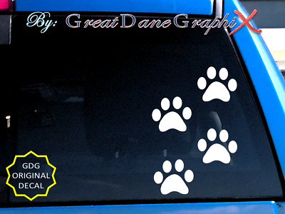 Paw Prints Dog Cat Vinyl Decal Sticker / Color Choice - HIGH QUALITY