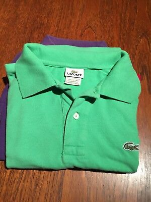 Vintage Lacoste Polo Shirt In Bright Green, Lacoste 4 Size M