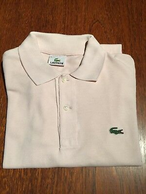Vintage Lacoste Mens Polo Shirt in Rare Flamingo Pink, Lacoste 3 Size S