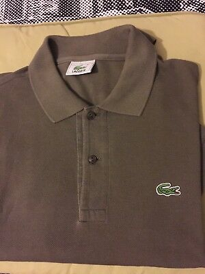 Vintage Lacoste Polo Shirt in Rare coffee Brown, Lacoste 6 Size XL