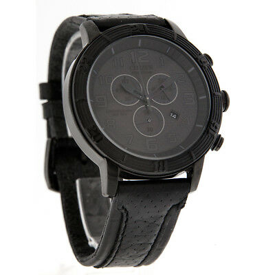 Citizen Eco-Drive Mens BRT 3.0 Black Leather Chronograph Watch AT2205-01E