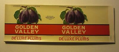 Prune Plums Can LABELS PACIFIC MIST Wholesale Lot of 50 Old Vintage 1940/'s