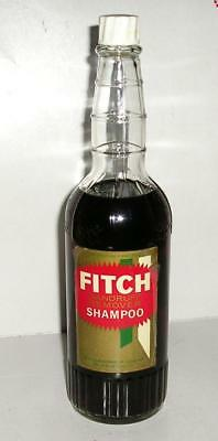 FITCH DANDRUFF REMOVER SHAMPOO - GLASS BOTTLE W/PRODUCT - CIRCA 1920's -1930's