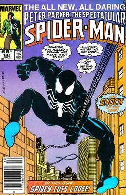Spectacular Spider-Man (1st Series) #107 1985 VF Stock Image