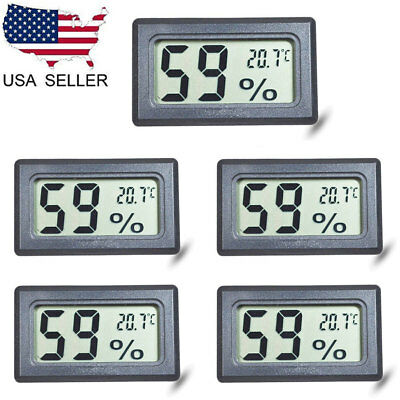 US 5X Mini Digital LCD Display Thermometer Hygrometer Temperature Humidity Meter