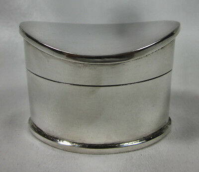 Vintage Tiffany & Co. Sterling Silver Hinged Box Made in Italy