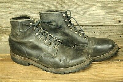 Chippewa Vintage Mens Black Leather Ankle/chukka Work Boots Sz 10D