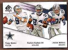 2009 SP Authentic Dallas Cowboy Football Card #166 Marion Barber/Witten/Romo