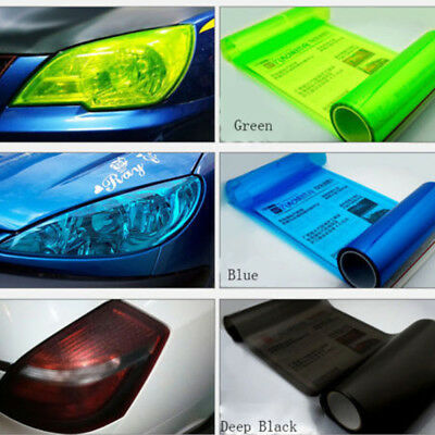 Auto Car Sticker Chameleon Clear Light Headlight Taillight Tint Film Decal Sheet