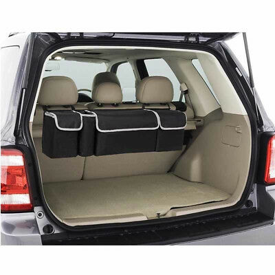 High Capacity Multi-use Car Seat Back Organizers Bag Interior Decor Black 1Set