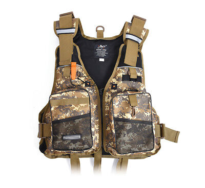 Fishing Life Vest Backpack Chest Vest Pack Jacket