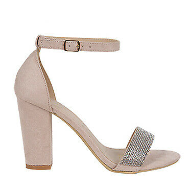 Hitched | Wildfire | Womens block high heel with diamante | Spendless