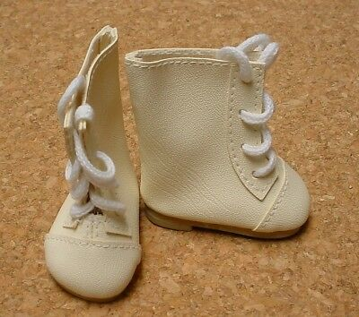 """SHOES fits 23/"""" Poseable Doll MY TWINN Ivory Lace-up DOLL BOOTS"""
