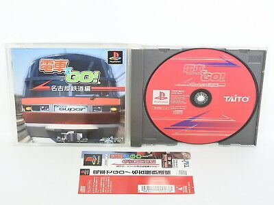 PS1 DENSHA DE GO Nagoya Railroad Spine * Playstation Japan Game p1