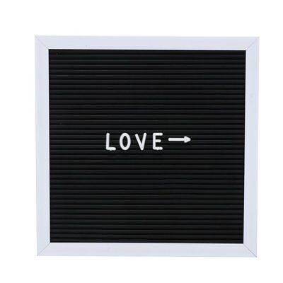 Felt Letter Board Message Sign Home Office Decor Message Board Black QG