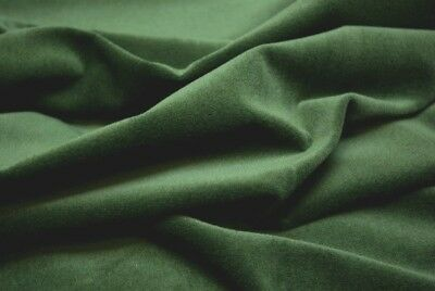 PINE GREEN 100%  Cotton Velvet  Curtain / Cushion / Dress fabric