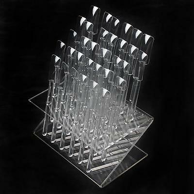 32 Pcs Clear Color Tips Pop Sticks Nail Art Display Stand Practice Training Tool