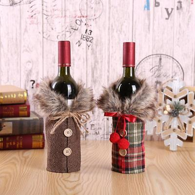Santa Claus Wine Bottle Cover Christmas Decorations For Home New Year Xmas Decor